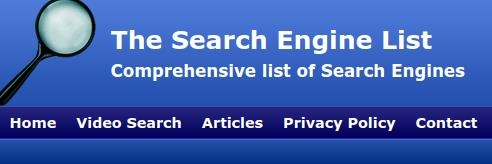 The Search Engine List The Search Engine List Comprehensive list of Search Engines
