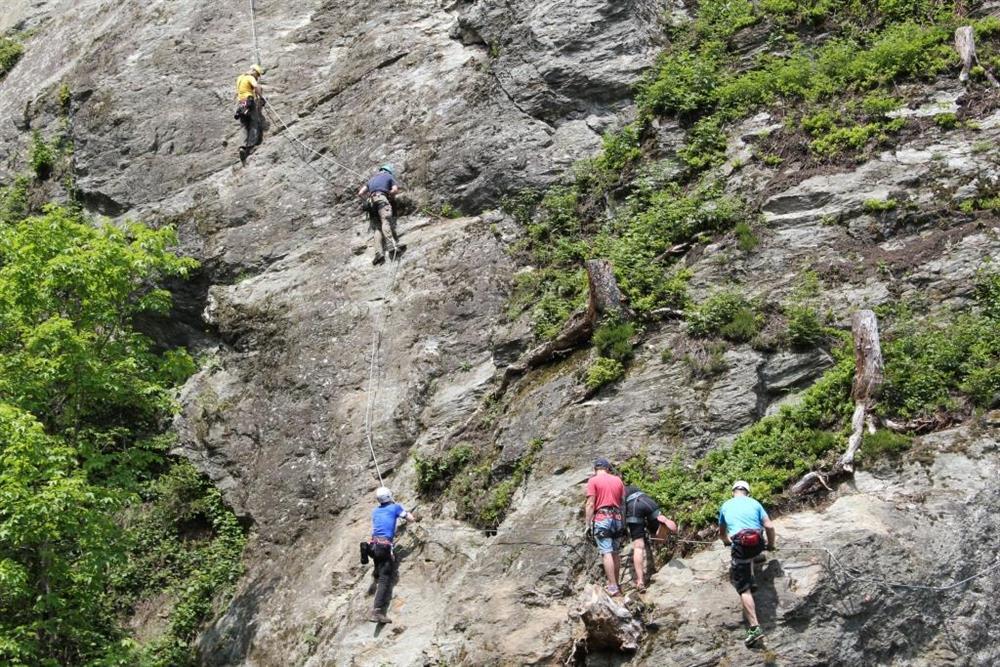Klettersteig Talbach : Talbach wasserfall klettersteig